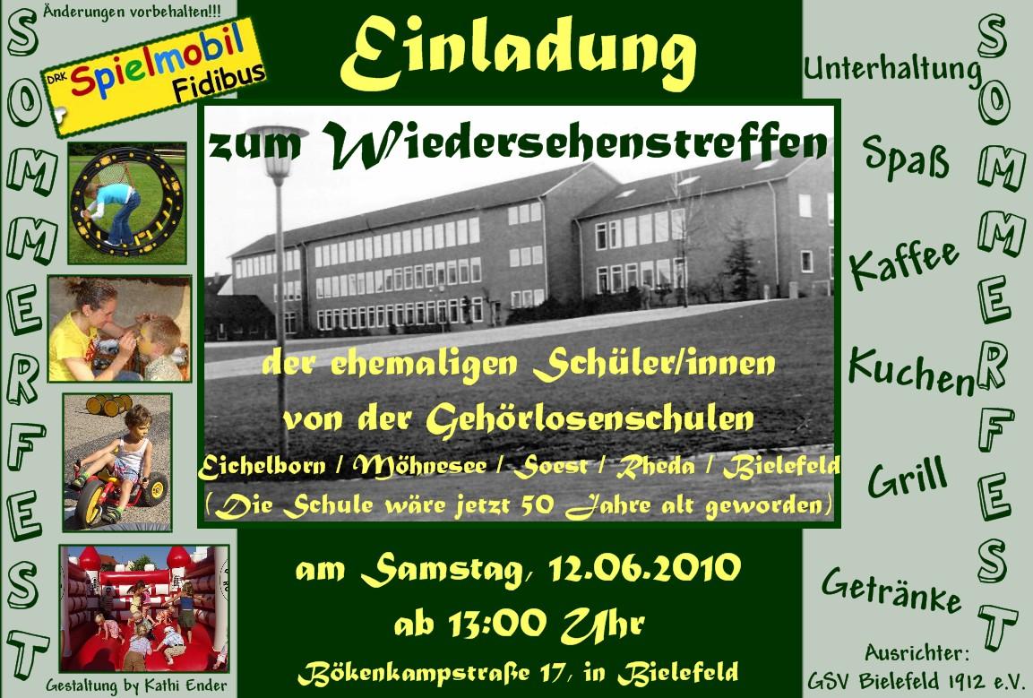 schulen - taubenschlag, das deutsche portal für hörgeschädigte, Einladung