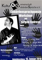 Gebärdensprachpoesie-Workshop in Aachen