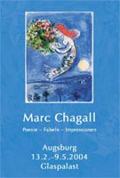 Plakat - Marc Chagall in Augsburg