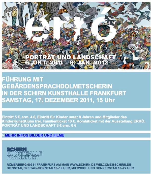 schirn museum frankfurt aktuelle ausstellung