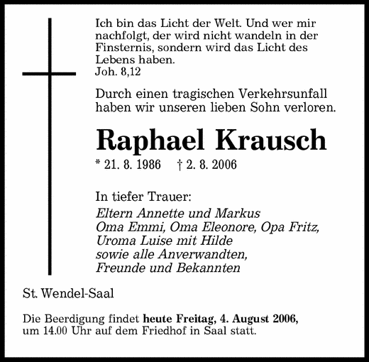 trauer - taubenschlag, das deutsche portal für hörgeschädigte, Einladung
